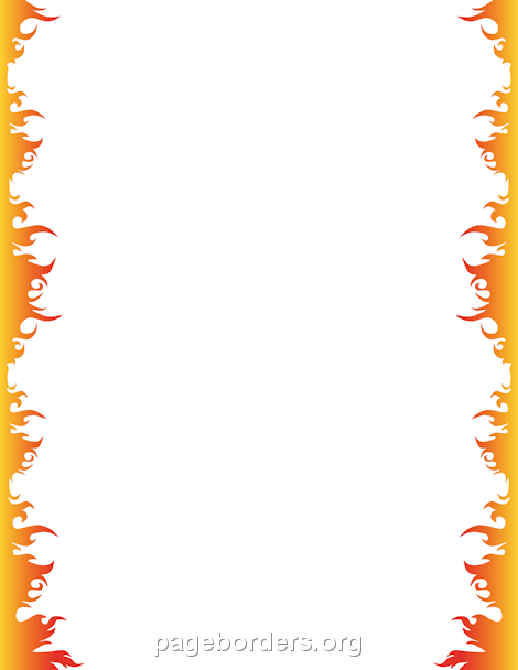 Fire Border Borders And Frames Page Borders Clip Art Borders