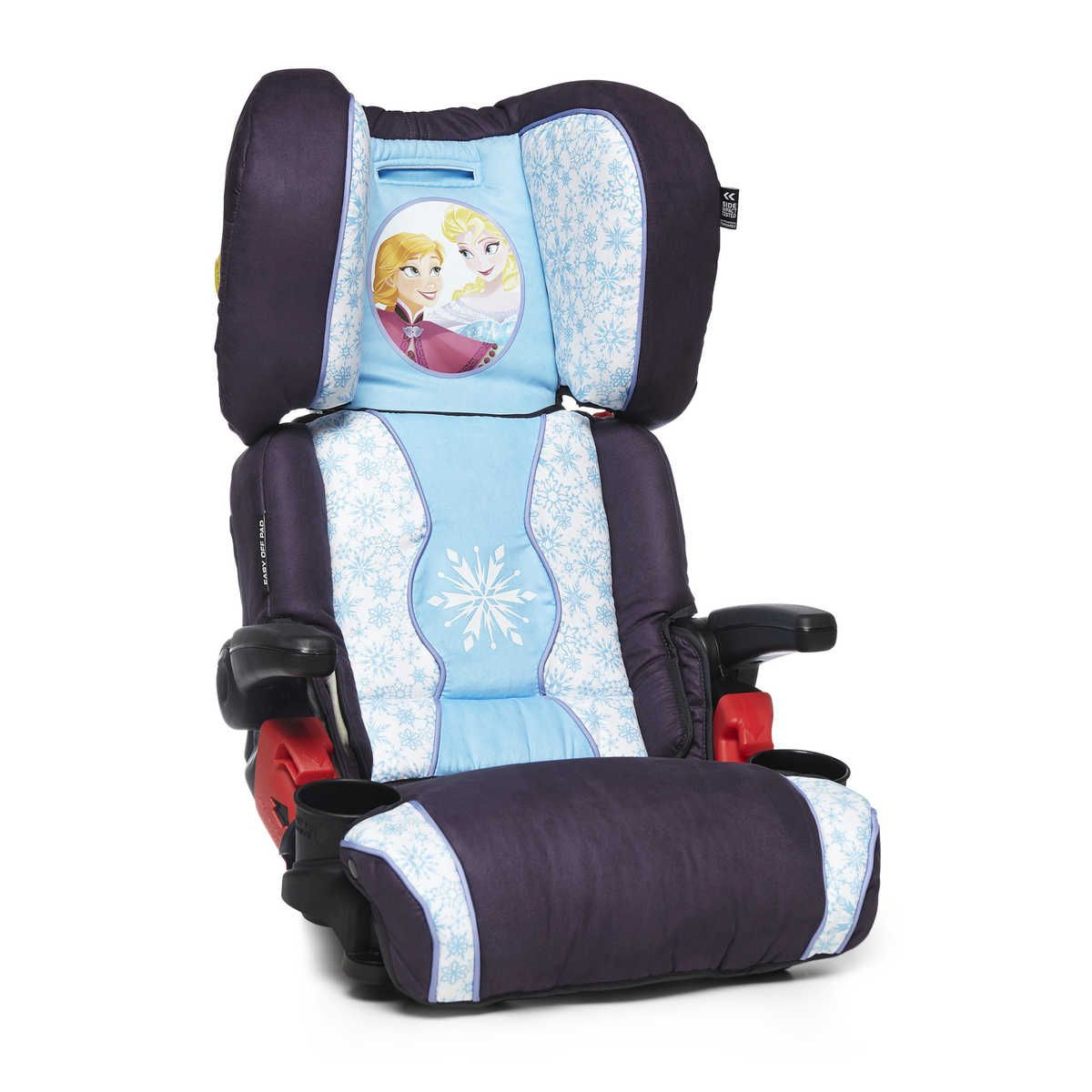 The Disney Frozen Booster Car Seat Is Suitable For Children Aged 4 8 Years Has A Deep Contoured Energy Absorbing Headrest And Compact Easy To Fold