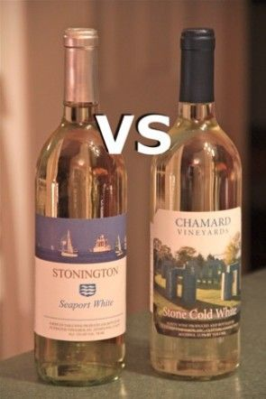 Stonington Seaport White vs Chamard Stone Cold White #Connecticut #WineBattle