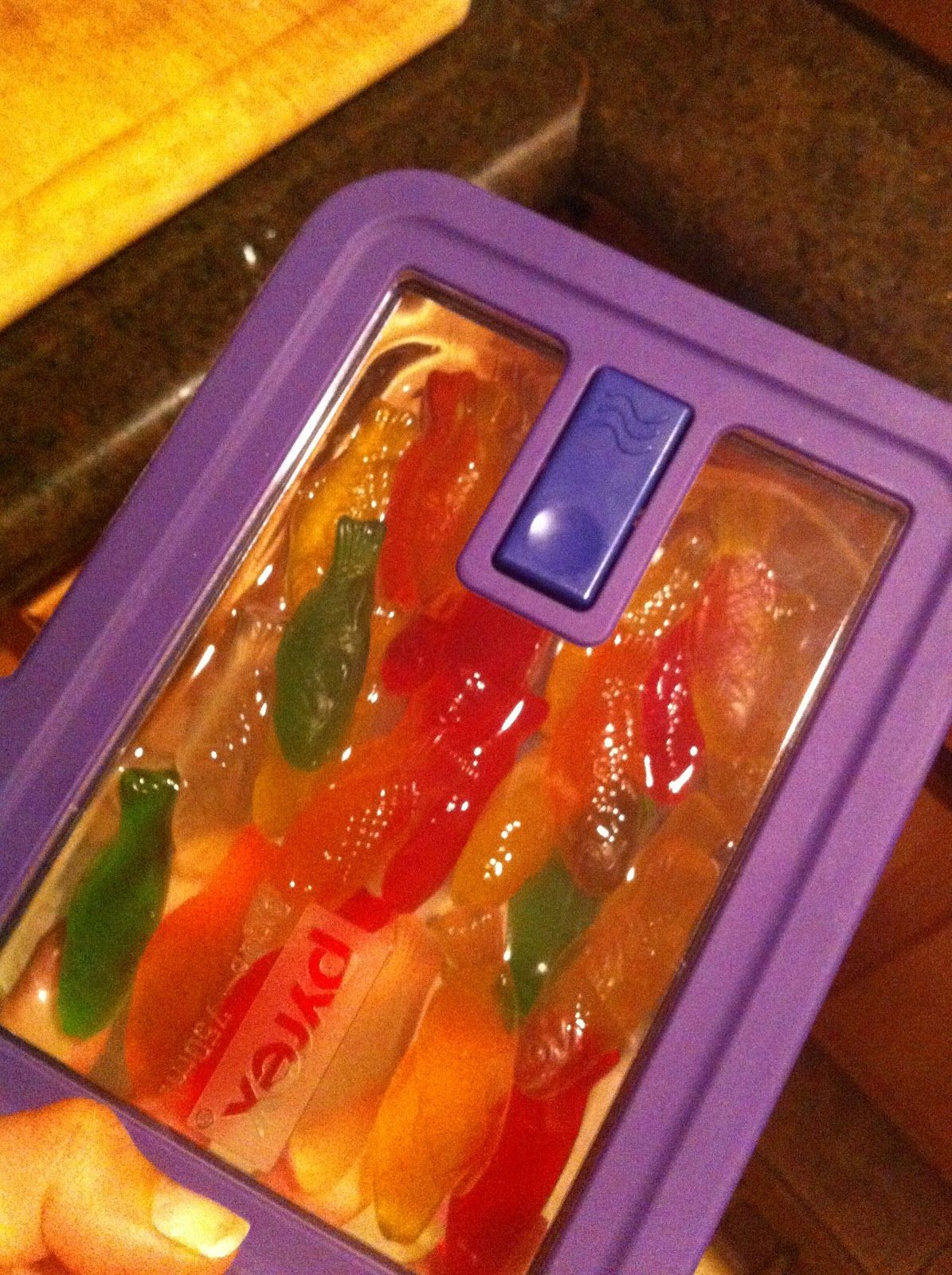 Swedish Fish soaked in vodka...this was one of my favs @ the ...