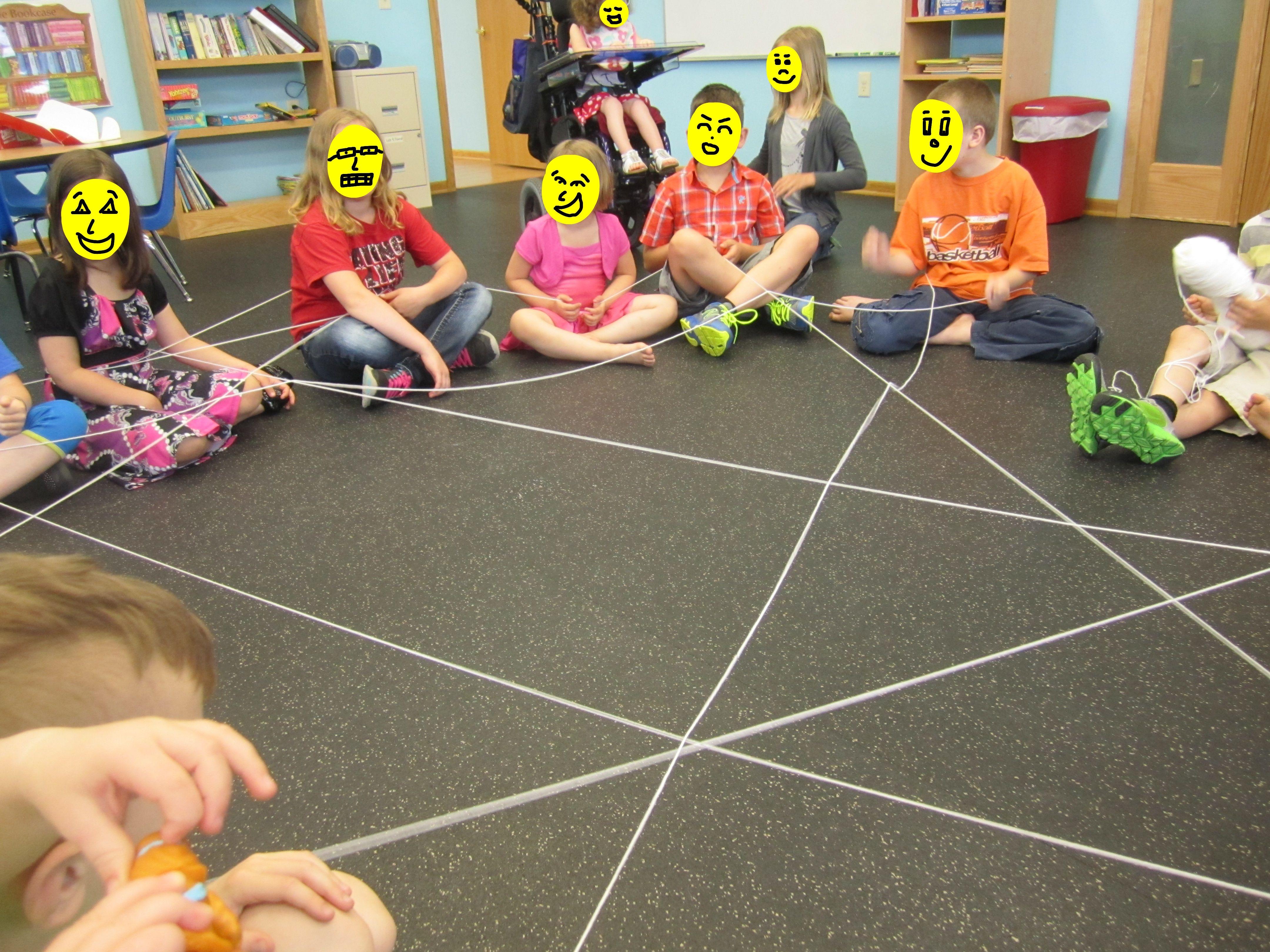 Friendship Yarn Game Friendship activities, Preschool