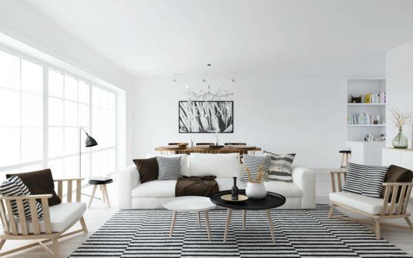 skandinavische möbel teppich streifen | Interieur | Pinterest