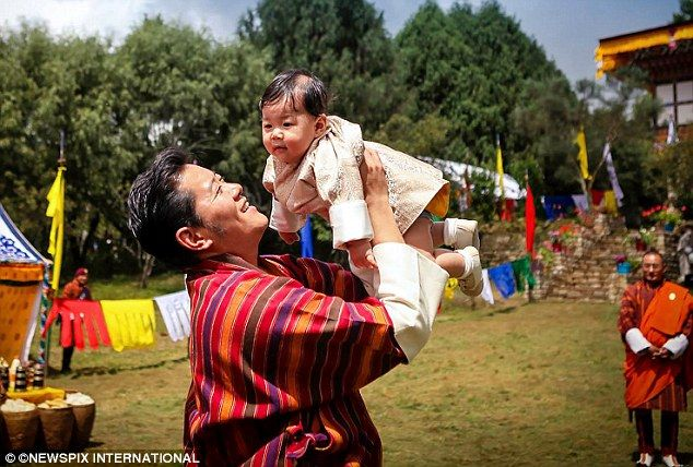 King And Queen Of Bhutan Bring Their Sixmonthold Son On Royal - The most eco friendly country in the world just planted 108000 trees to celebrate a new royal arrival