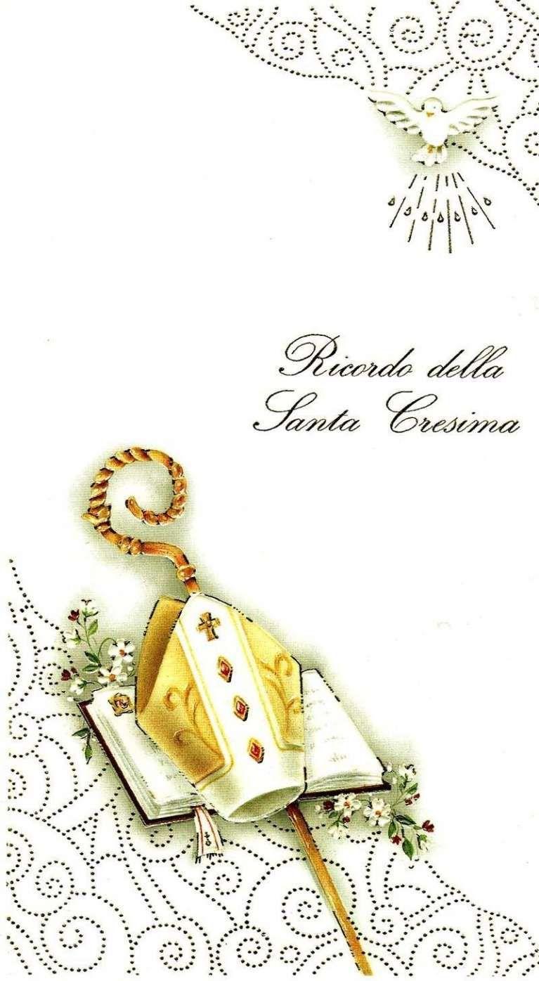 Biglietto Per La Cresima Ricordo Ricordo Classico Della Cresima