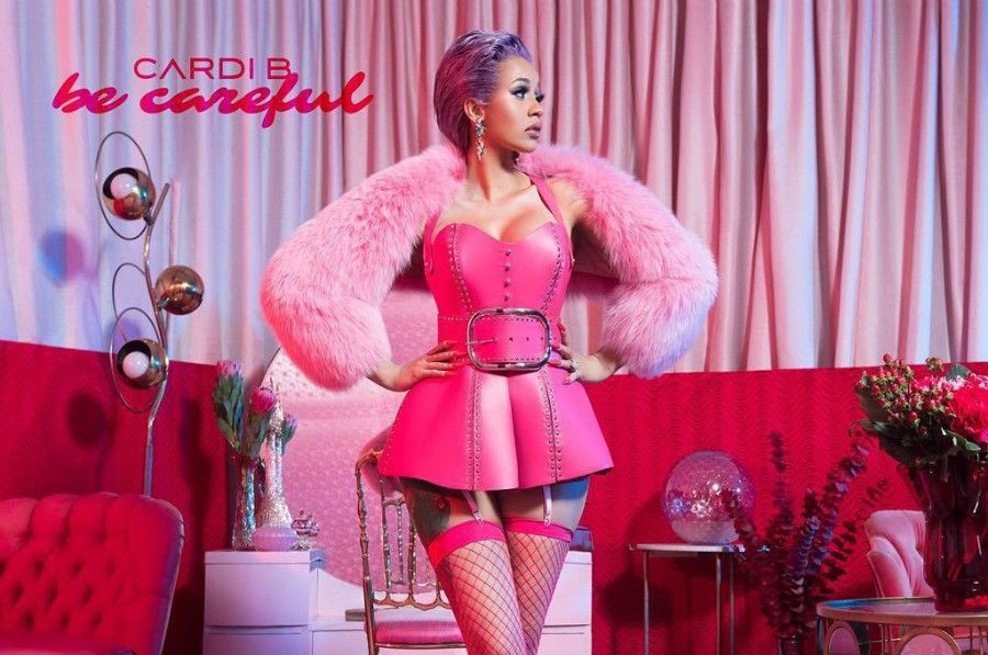 """Cardi B Debuts Colorful New Butterfly Back Tattoo: Cardi B Premieres New Song """"Be Careful"""""""