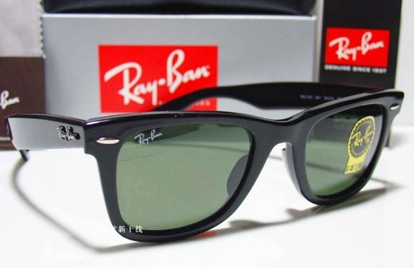 black ray bans wayfarer  Ray Ban Wayfarer 2140 Black - Ficts