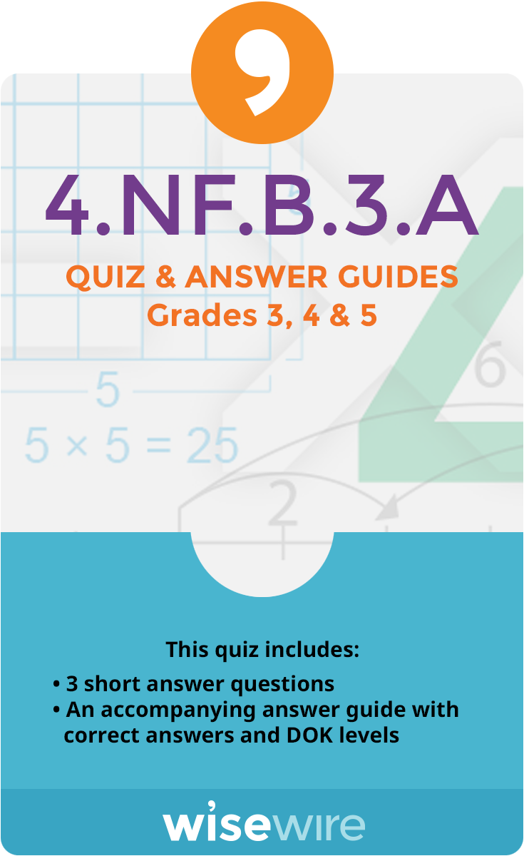 4.NF.B.3.A - Quiz and Answer Guide