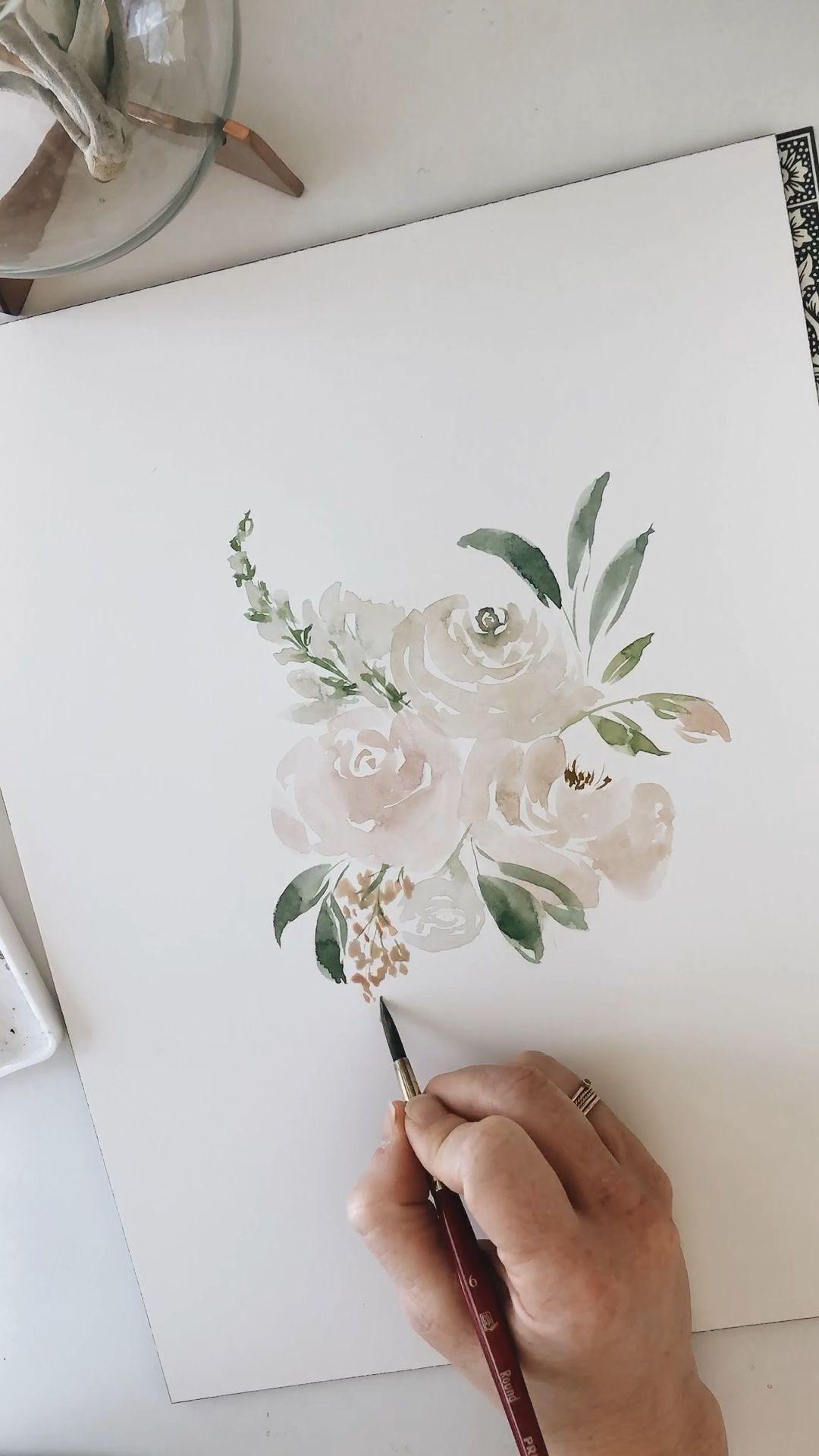 Photography Inspo Videos Paint Photographyeveryday Photographyislife Photographylover Blumen Aquarell Blumen Gemalde Blumenzeichnung
