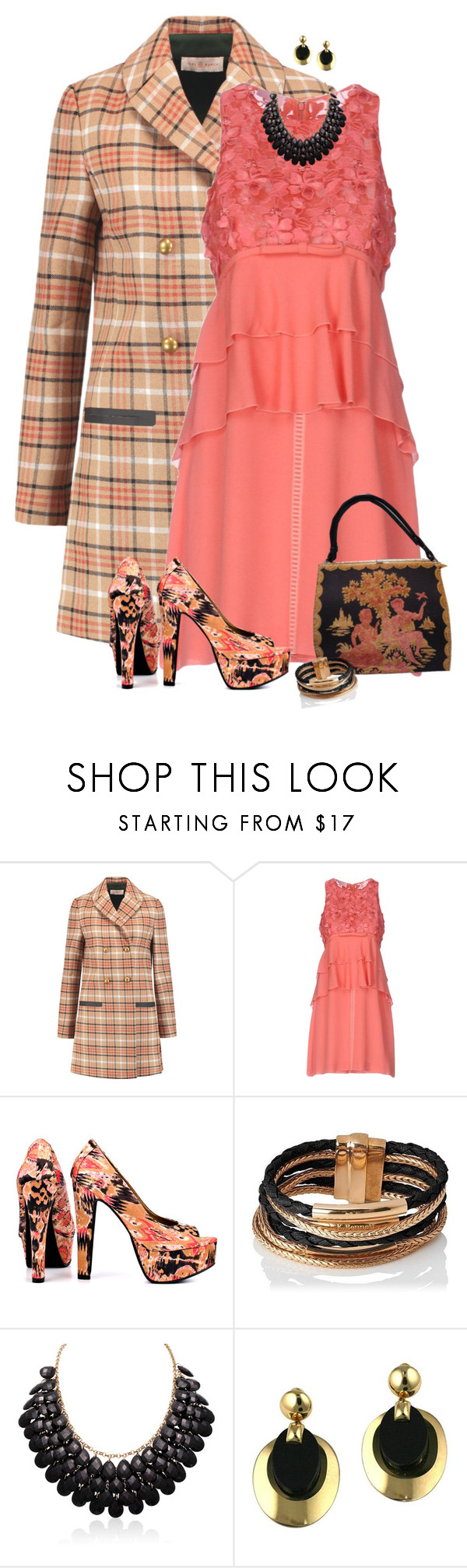 """Shelly"" by dkelley-0711 ❤ liked on Polyvore featuring Tory Burch, Giamba, Michael Antonio, L.K.Bennett, Adoriana, Christian Dior, ToryBurch, Dior, polyvoreeditorial and plaidcoats"