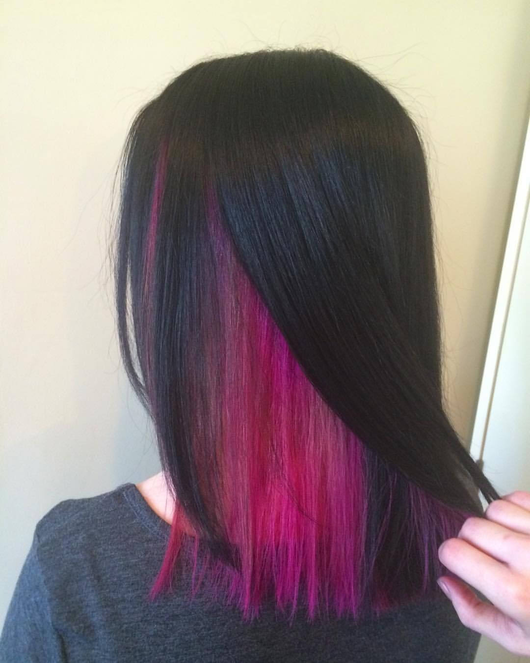 Hairsmart Revealing The Magical Magenta Under Layer At In 2020 Hair Color Streaks Hidden Hair Color Aesthetic Hair