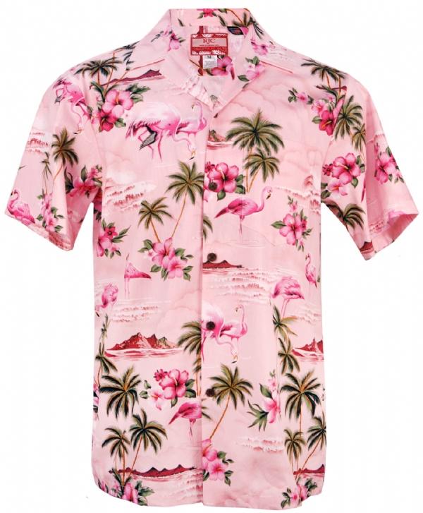 Pink Flamingo Mens Hawaiian Aloha Shirt In Pink Mens Hawaiian Shirts Clothing 102c 275 Pink Mens Hawaiian Shirts Pink Hawaiian Shirt Hawaiian Shirt Outfit