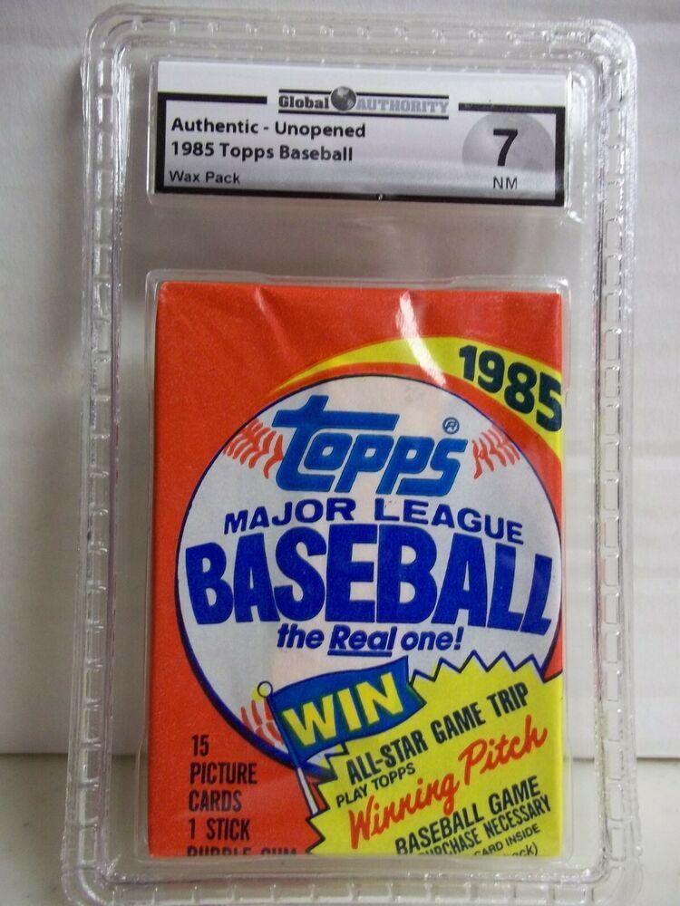 1985 topps baseball pack gai graded nm 7 possible clemens