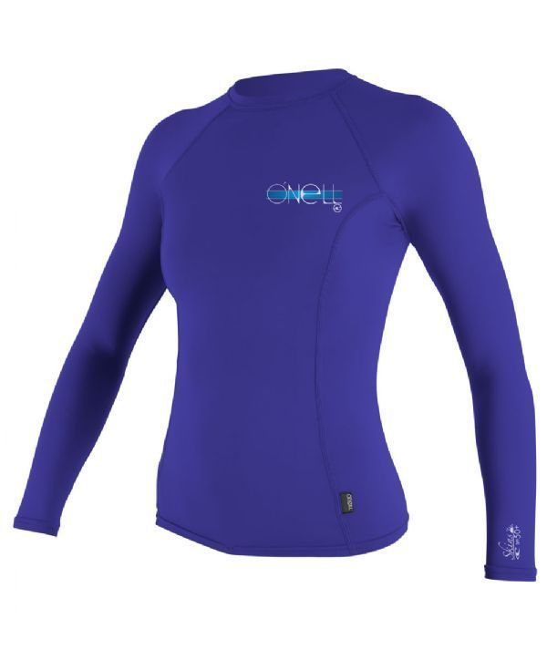 7299467be8 O Neill Ladies Womens Skins Long Sleeve Surf Rash Vest - Cobalt Blue - All  Sizes in Sporting Goods