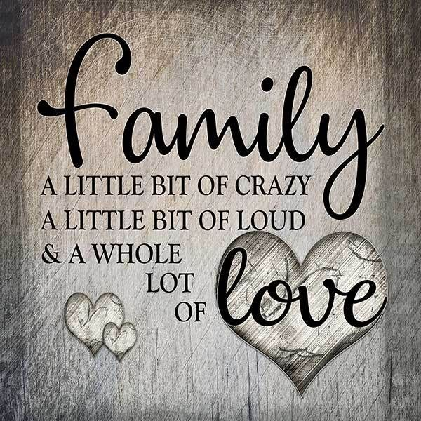 """Family.. Love"" Premium Square Canvas Wall Art Family"