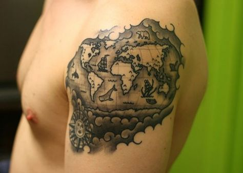 Old world map tattoo this old tatuajes pinterest tatuajes old world map tattoo this old gumiabroncs Images