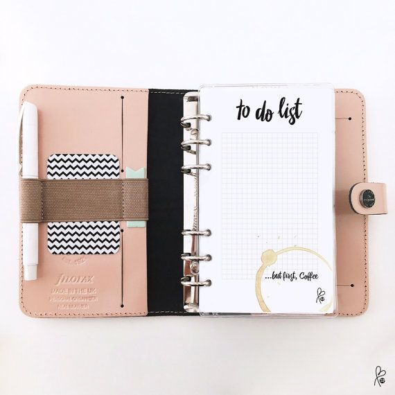 to do list filofax personal inserts planner template notepad filofax printable. Black Bedroom Furniture Sets. Home Design Ideas