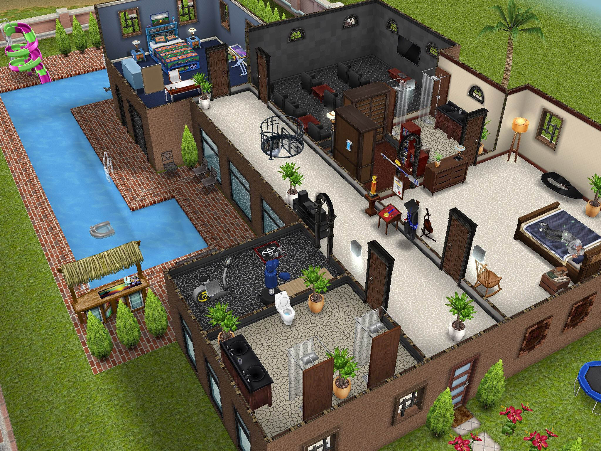 Variation On The Two Story Mansion Second Story Thesims