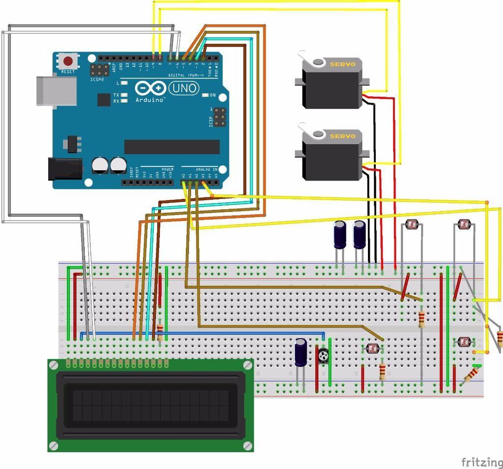 Arduino Solar Tracker Ardiuno Pinterest Circuit Diagram Read It