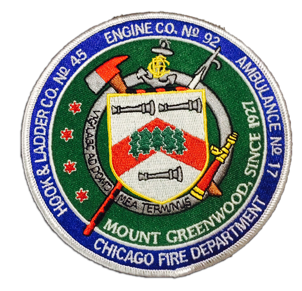 Chicago FD Engine 92's patch Engineering, Patches, Team logo
