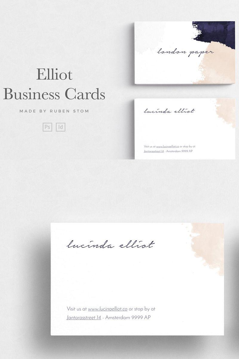 Elliot Business Card Beautiful Business Card Modern Business Cards Elegant Business Cards