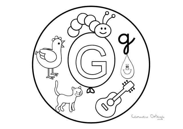 Mandalas del abecedario para colorear: Letra G | mandalas in 2018 ...