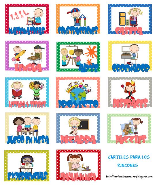 Carteles Para Rincones Educacion Infantil