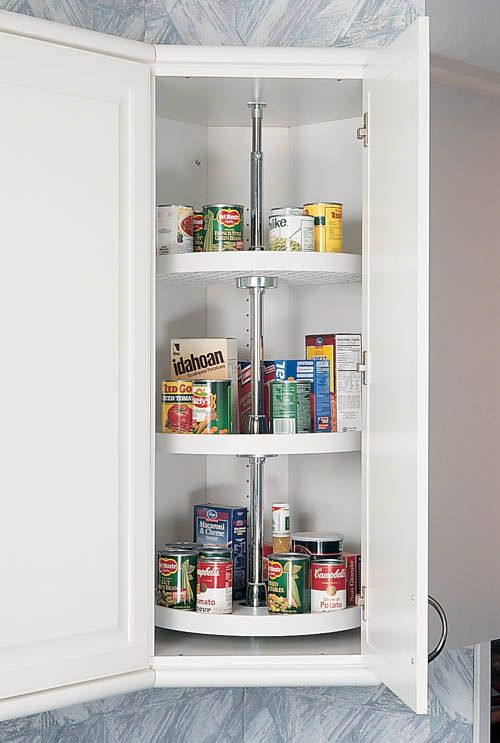 For Maximum Space Utilization In Wall And Base Cabinets Rev A Shelf Offers 3 Shelf Polymer Lazy Susans With Rev A Shelf Lazy Susan Traditional Pantry Cabinets