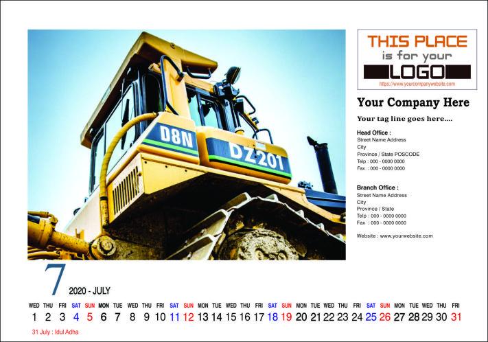 Kalender Meja 2020 Konstruksi Template Free Download ...