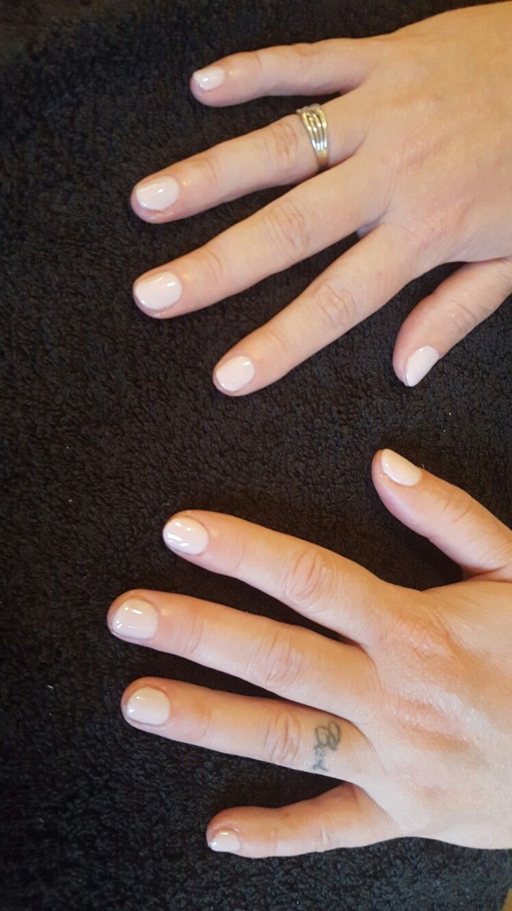 Nude pink biosculpture nails french rose bridal beauty nails