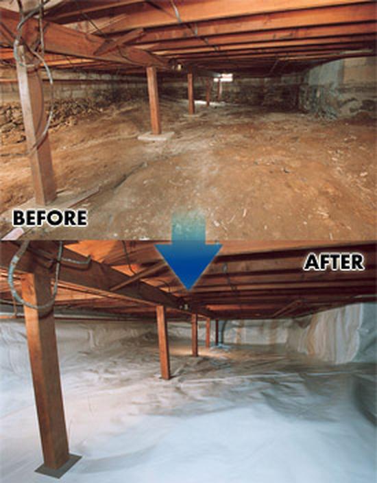 Before After Crawl Space Using Cleanspace Encapsulation Crawlspace Crawl Space Repair Remodel
