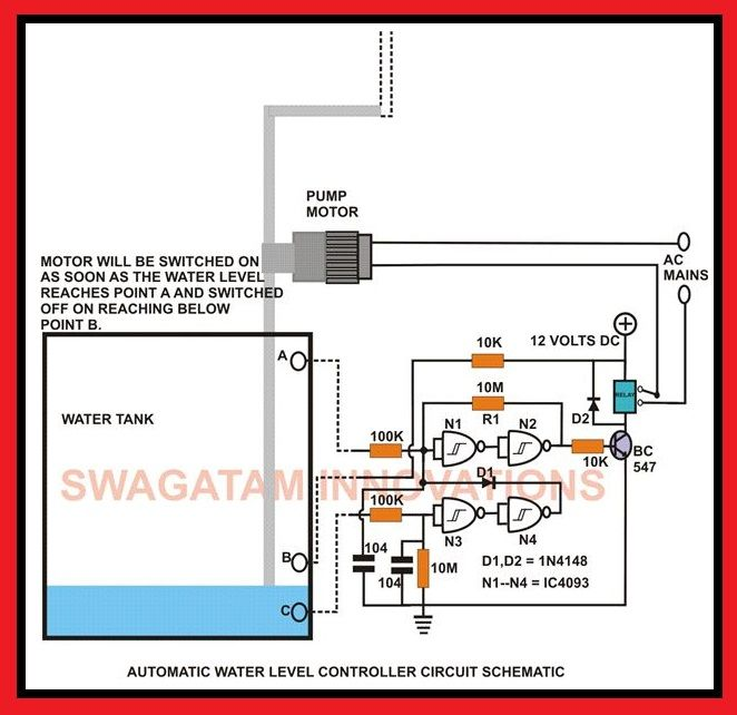 Automatic Water Level Controller Circuit Schematic | Elec Eng World on solar panels diagrams, dc motor diagram, motor schematic diagrams, motor connections diagrams, dc elementary diagrams, dc connections diagram, dc schematic diagrams, welding diagrams, dc circuit diagram, dc power supply diagrams, tank ship diagrams,