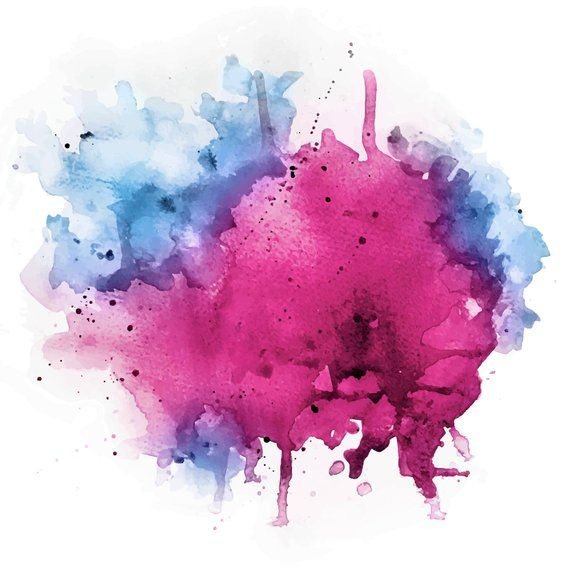 Watercolor Splash Vector - PSD file - pink magenta blue periwinkle