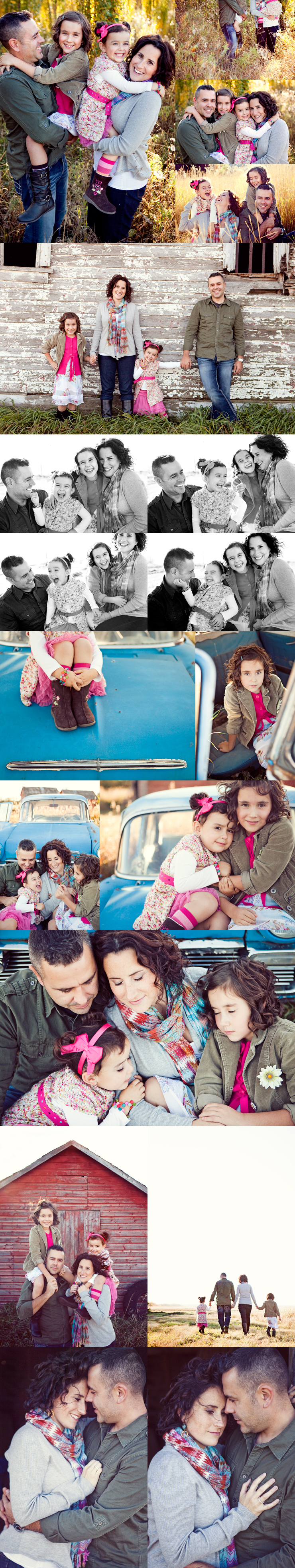 Love the car, the old barn and the photos of the mom & dad!