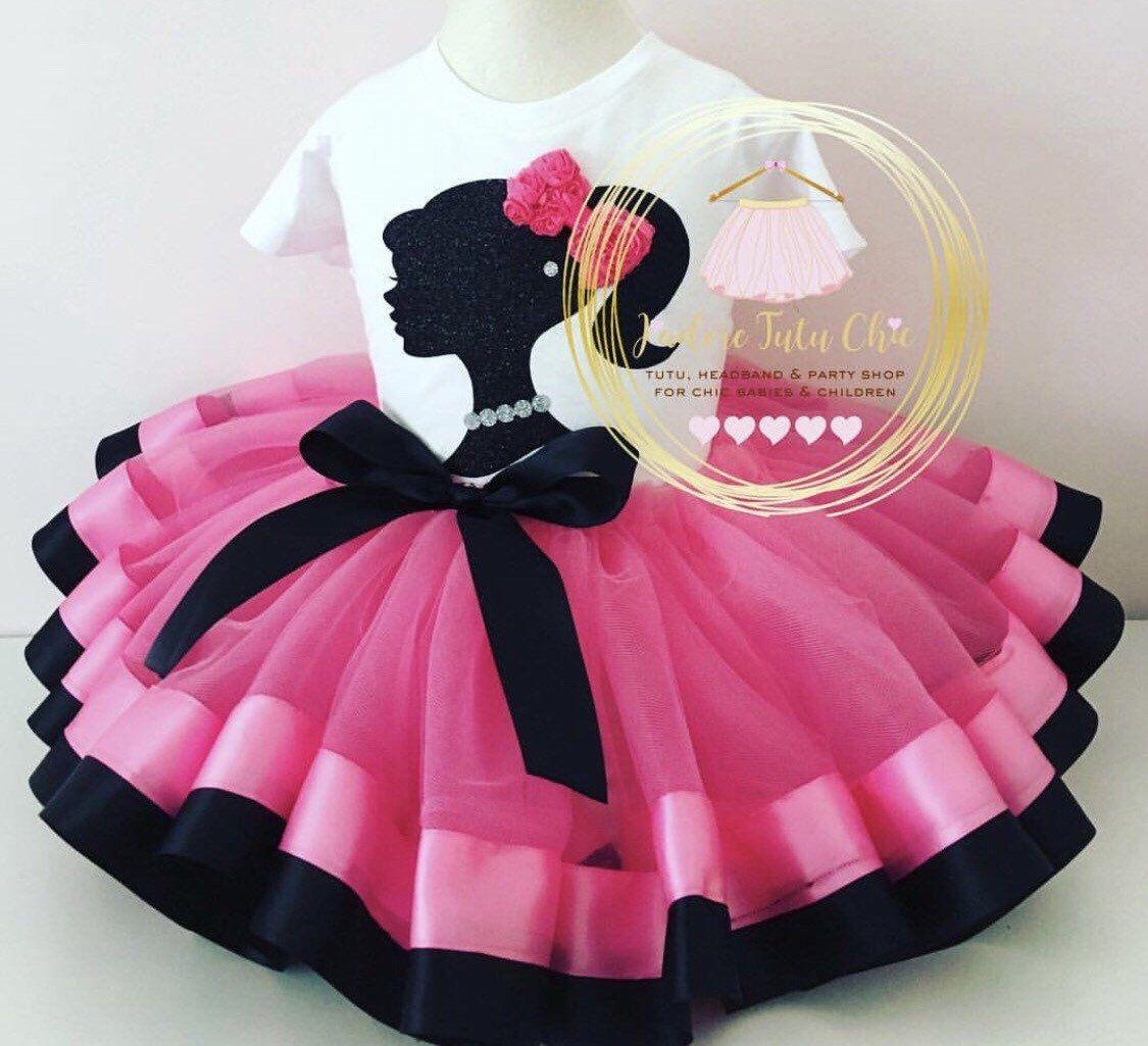 de6d1d628e507 Barbie birthday outfit - barbie tutu dress - barbie birthday shirt ...