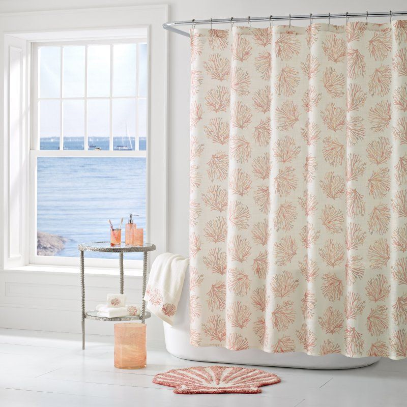 Five Queens Court Caribbean Reef Print Shower Curtain With Images
