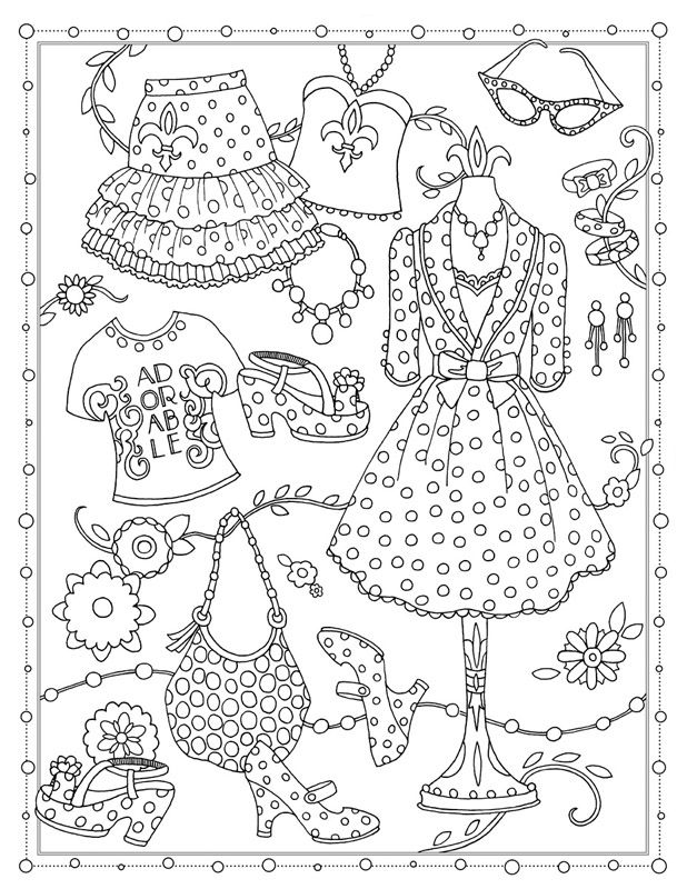 Fanciful Fashions Fashion Coloring Book Coloring Books Coloring Pages