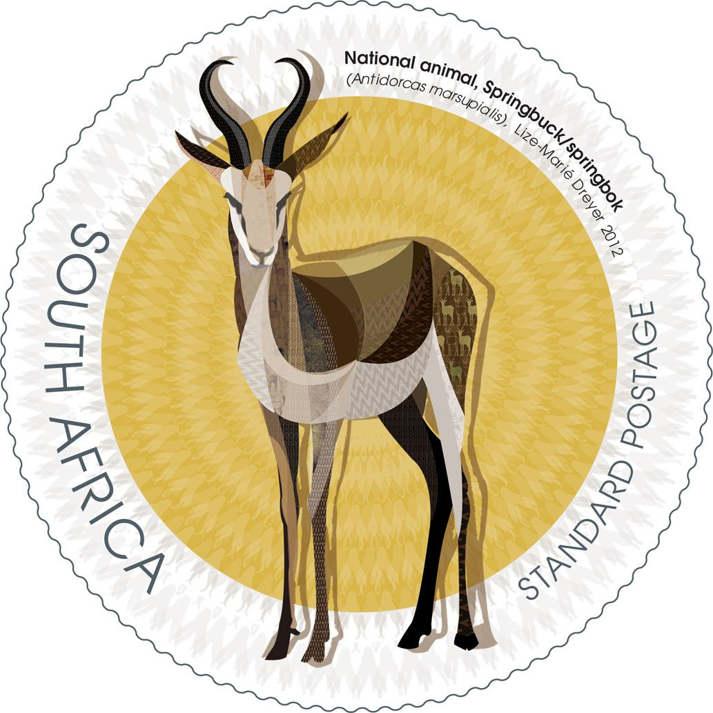 4 Sa National Symbols 5 1 South African Stamps Pinterest