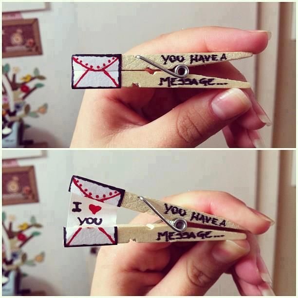 Message in a clothes pin