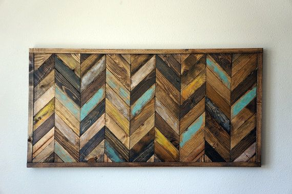 Chevron Wood Wall Art Wood Wall Art Diy Pallet Wall Art Reclaimed Wood Art