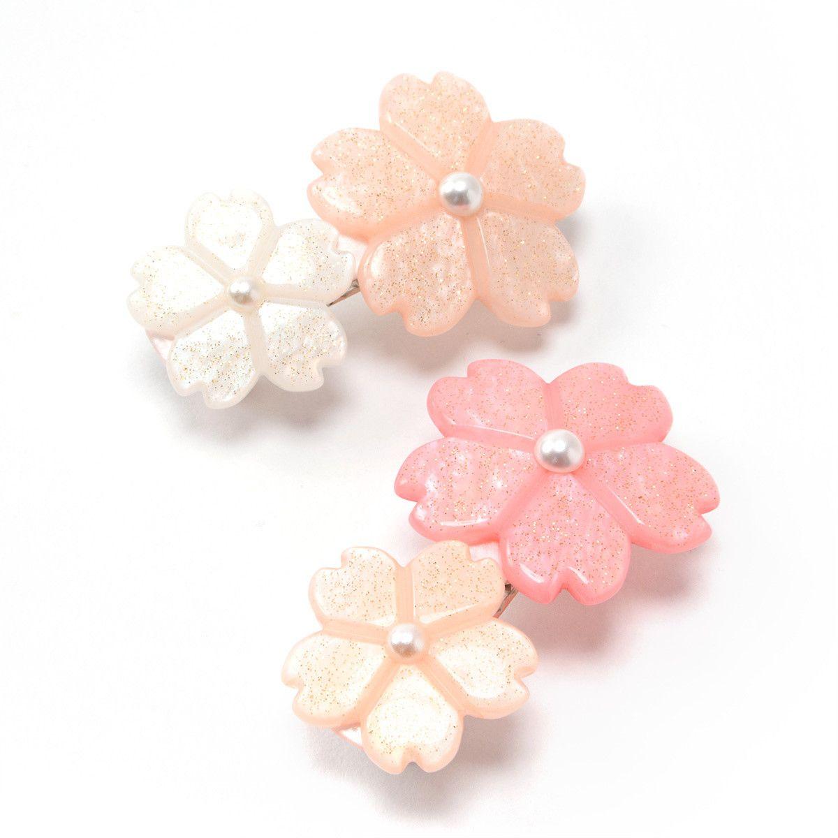 Osewaya Sakura Flower Hair Clip Kawaii Hair Accessories Flower Fashion Sakura Flower