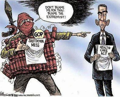 Blame the extremist!