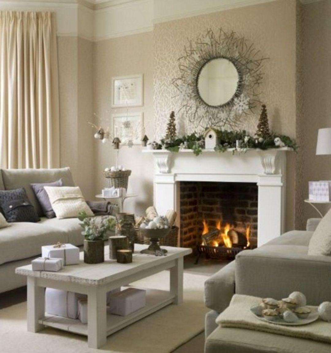 20 Comfortable Winter Living Room Decor Ideas For