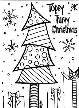 Topsy Turvy Christmas Tree Coloring Sheet #coloringsheets