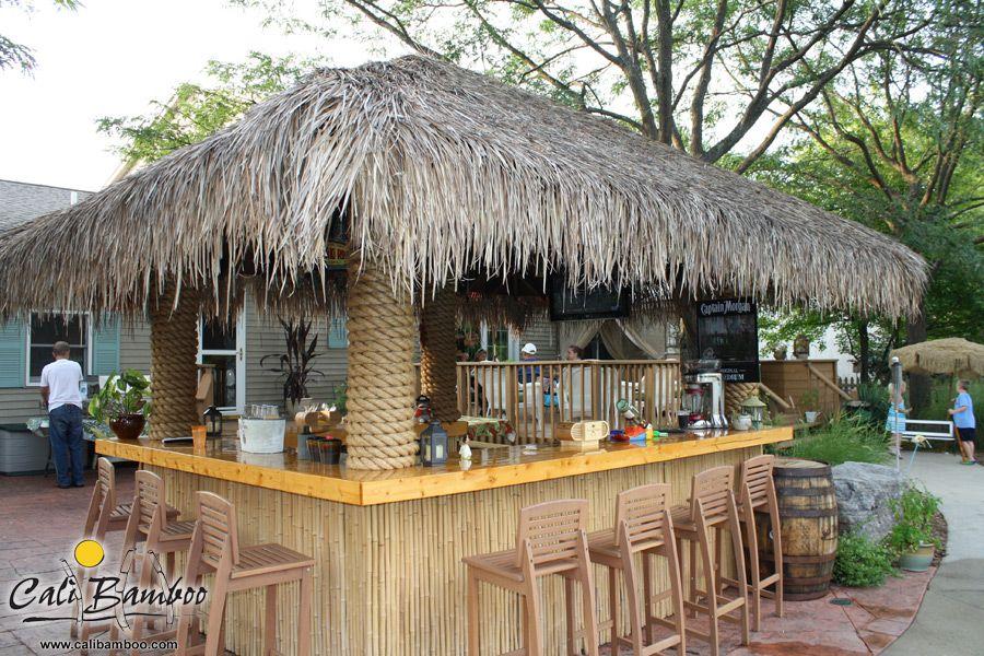 Palm Thatch Photos | CALI | Backyard bar, Outdoor tiki bar ... on Backyard Tiki Hut Designs id=76788