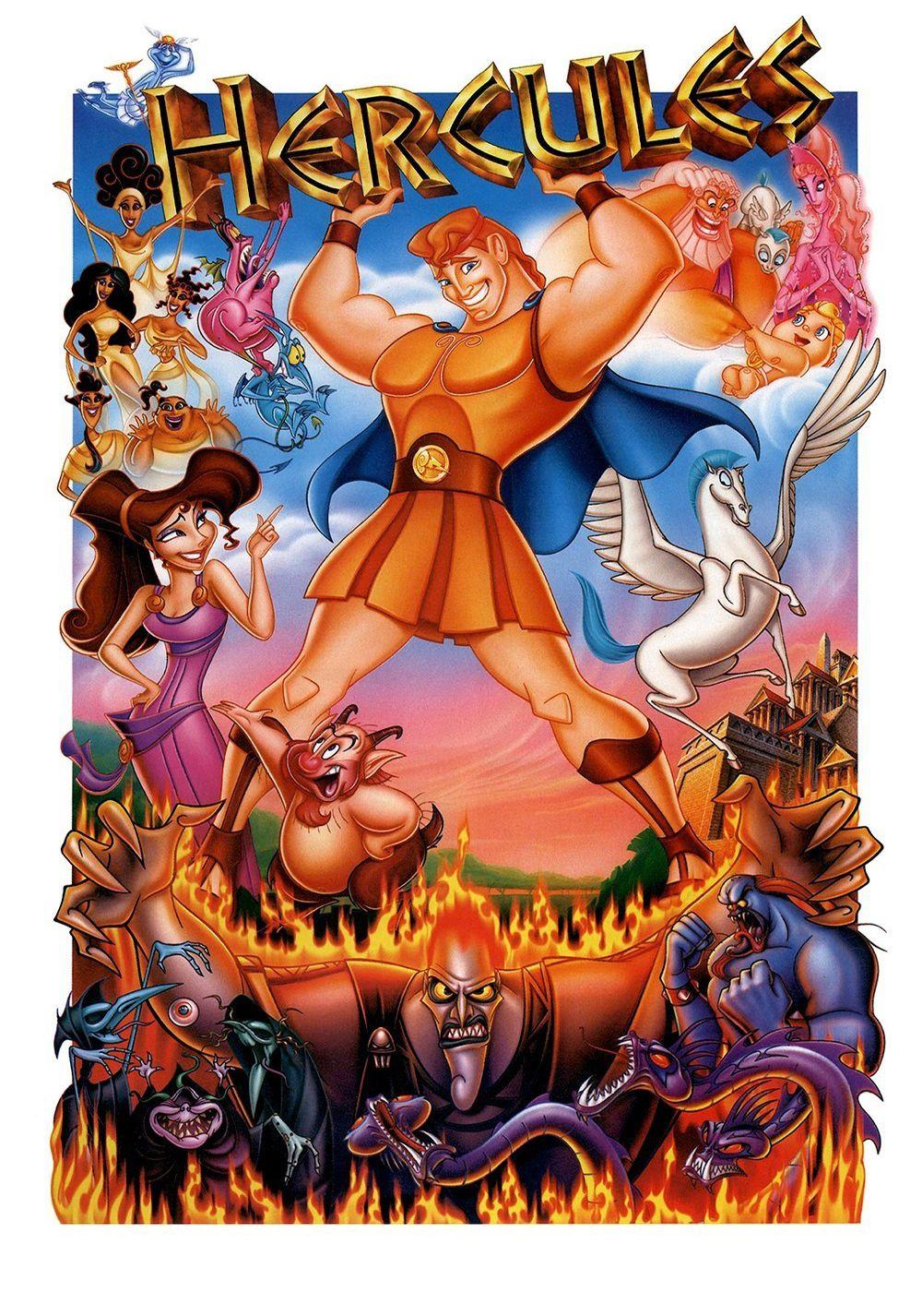 Hercules 1997 zero to hero animated movie posters