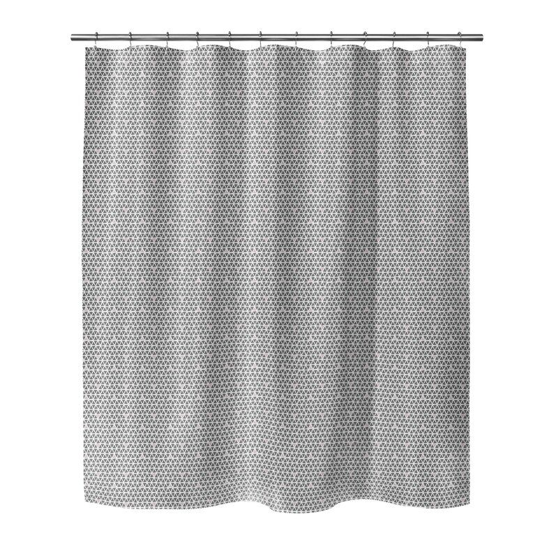 South Venice Geometric Single Shower Curtain Allmodern Shower Curtain Curtains Shower
