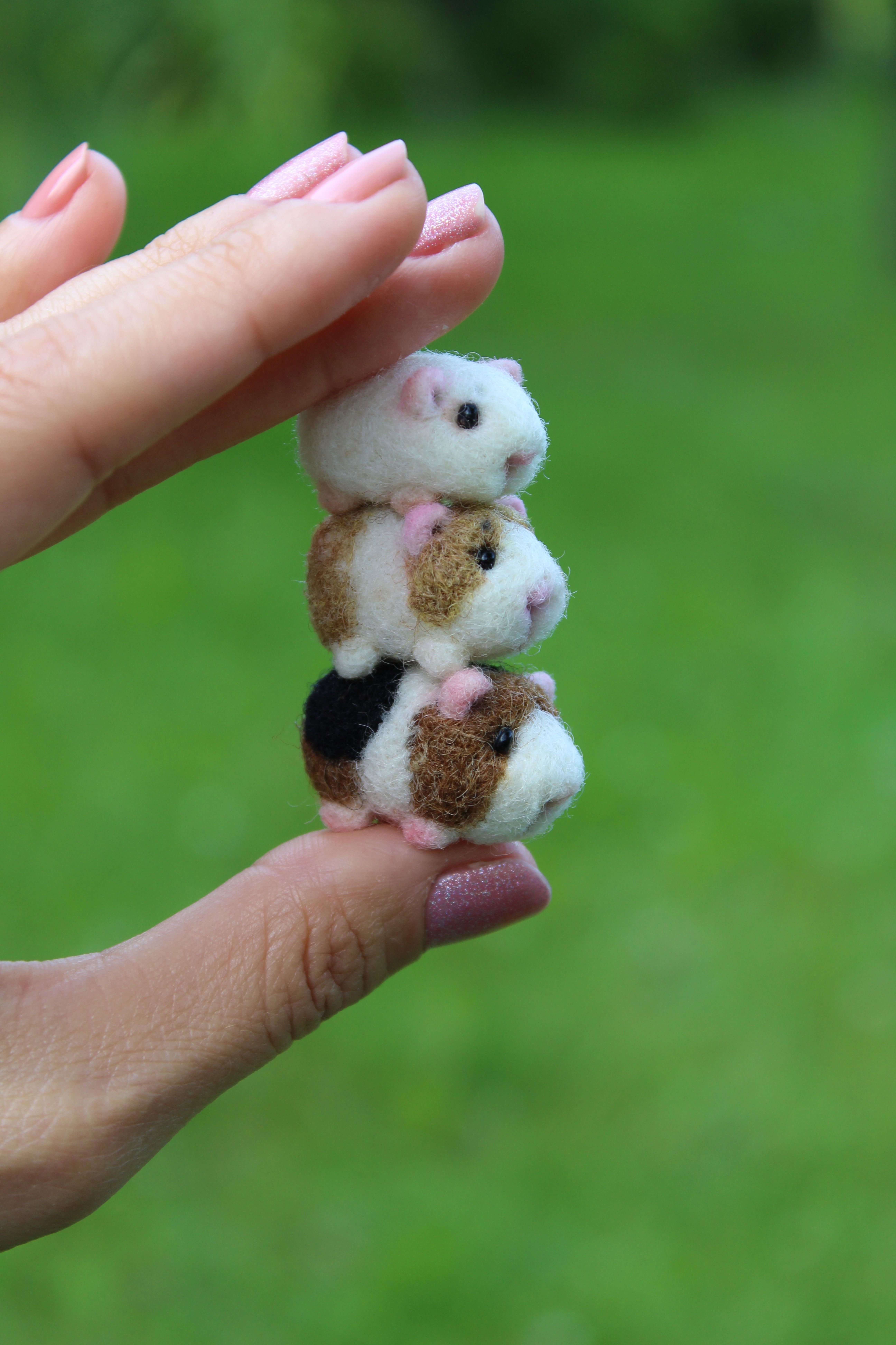 Photo of Felted guinea pig miniature for doll house #feltedwoolcrafts needle felt …