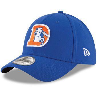 df6d6bfc94757 Denver Broncos New Era Throwback Logo Team Classic 39THIRTY Flex Hat - Royal