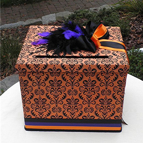 HALLOWEEN Wedding Card Money Box Large By WeddingsofDesign 8000