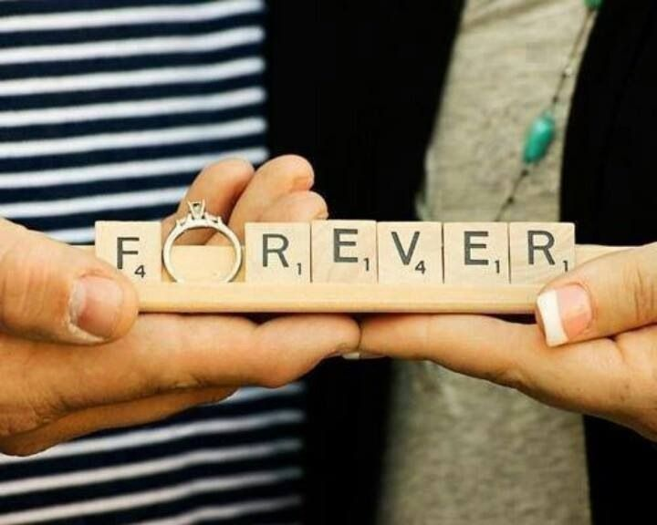 Forever!  Cute proposal, wedding or engagement shot.